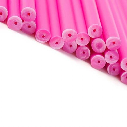Pink Cake Pop / Lollipop Sticks 15cm - Pack of 20